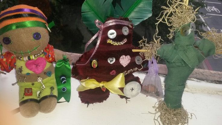 Voodoo dolls homemade. Left Ezra for protection, middle Patrick for ...