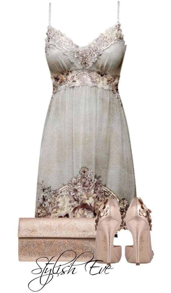 Love the dress and purse, also love the detail work on the shoes but I cannot walk in heels that high without falling over.