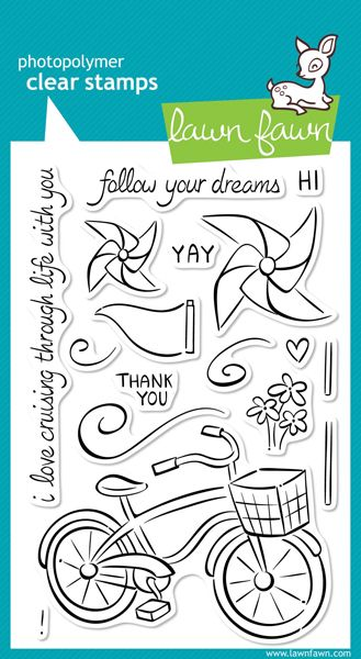 Lawn Fawn - Clear Acrylic Stamps - Cruising Through Life at Scrapbook.com $14.99