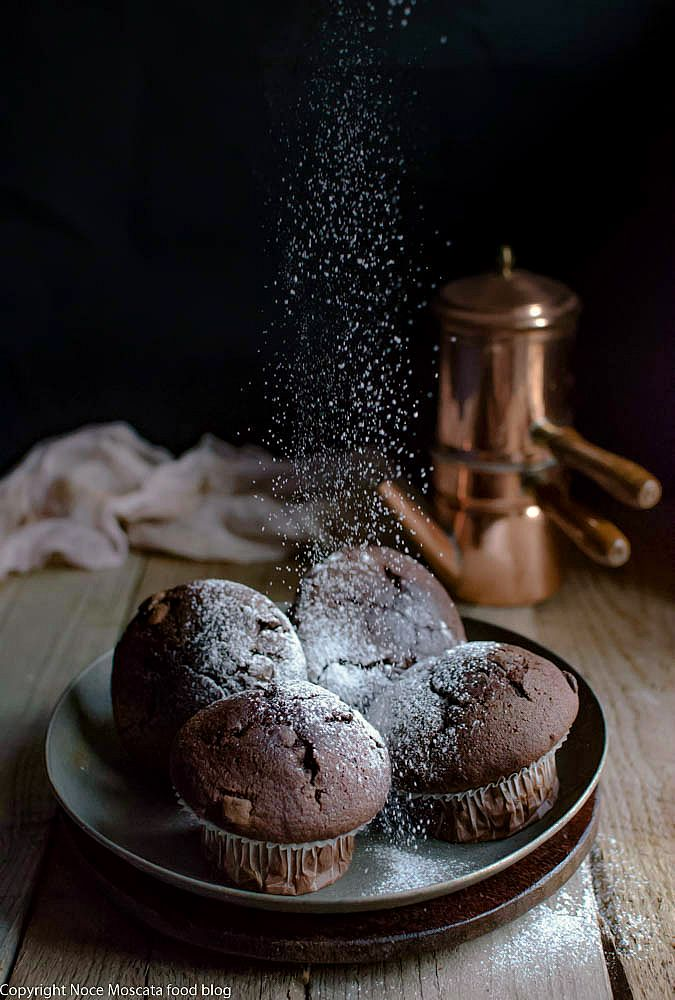 Chocolate muffin  food photography