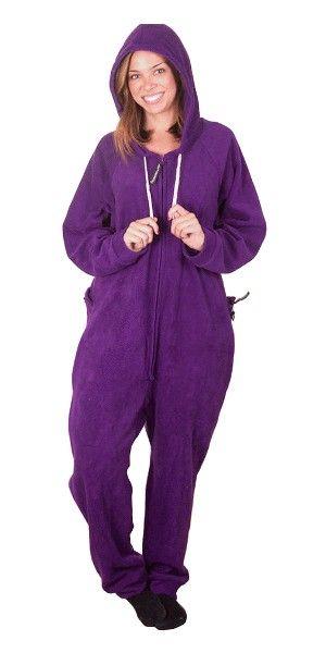 Purple Adult Onesies PJs, Onesie Pajamas for Adults, Drop Seat Sleepwear