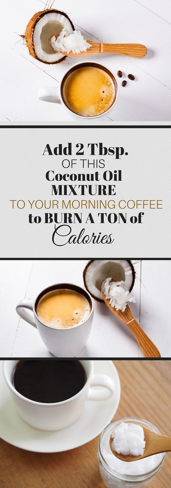 COCONUT OIL MIXTURE IN YOUR MORNING COFFEE BURNS A TON OF CALORIES – Healthy Society. #coconut #coffee #coconutoil #calories