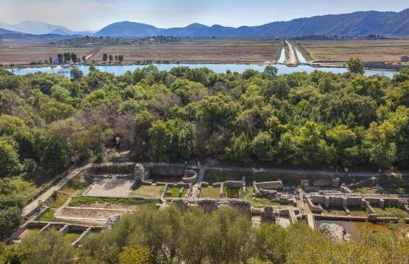 BUTRINT, ALBANIA  The prehistoric town of Butrint lies in southern Albania in a gorgeous natural setting. Built on a peninsula in a marshy landscape, it nestles amid greenery in what is today a national park.