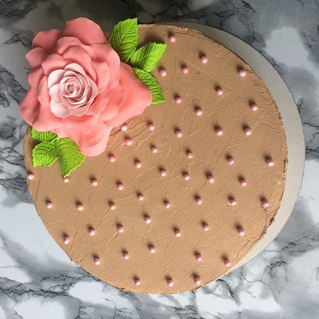 🍰Нежный, ароматный шоколадный бисквит, вишневая начинка, шоколадный крем-чиз. Очень вкусный торт в классическом сочетании: вишня🍒& шоколад🍫 Розочка выполнена из сахарной пасты🌸 Для заказа писать Директ или WhatsApp +7(917)4410283 🚘Доставка возможна. 🎉На второй заказ скидка 5% #svetlana_abdulova