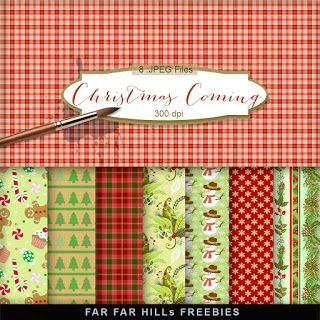 FREE New Freebies Kit of Paper - Christmas Coming:Far Far Hill - Free database of digital illustrations and papers