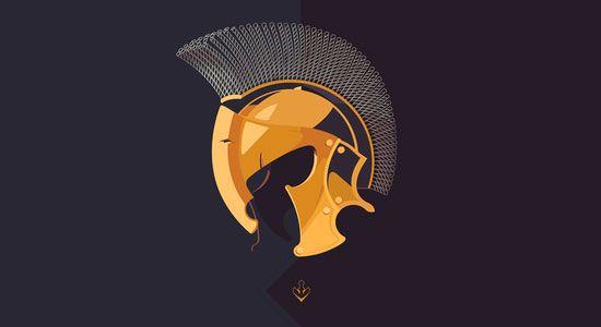Spartan by Mert Arslan - 60 Incredible Spartan Logo Designs for Inspiration|iBrandStudio
