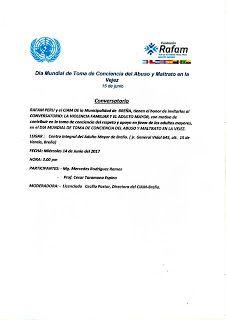 la Visión Gerontològica : Rafam Perú:Conversatorio sobre violencia familiar ...
