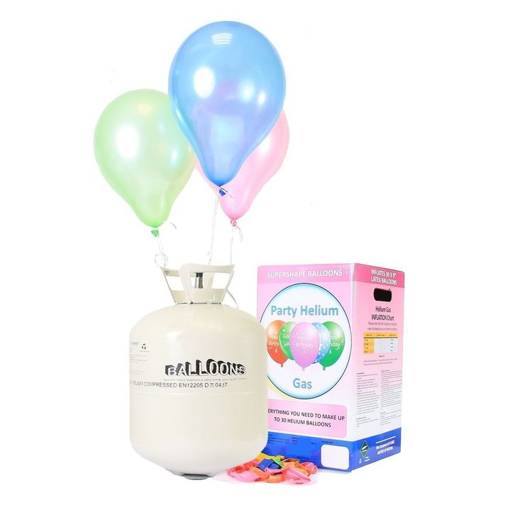 Helium Ballongas 30 - 50 Luftballons Einweg Heliumflasche Folienballons Ballons