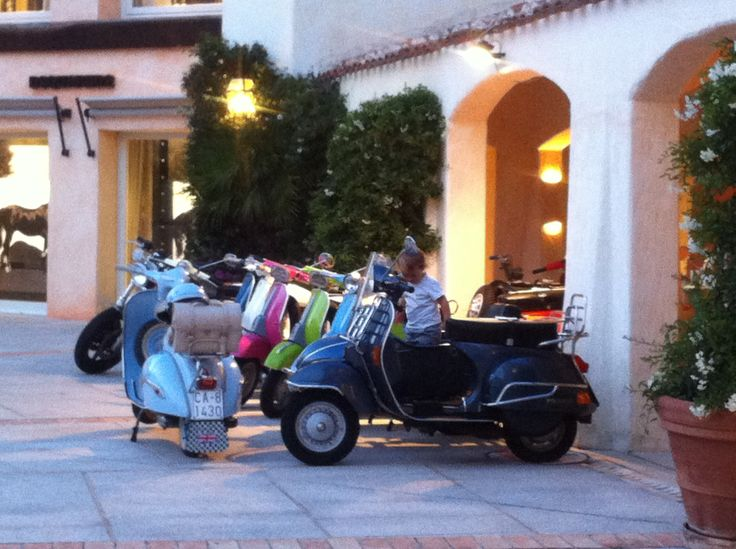 Scooters in Porto Cervo