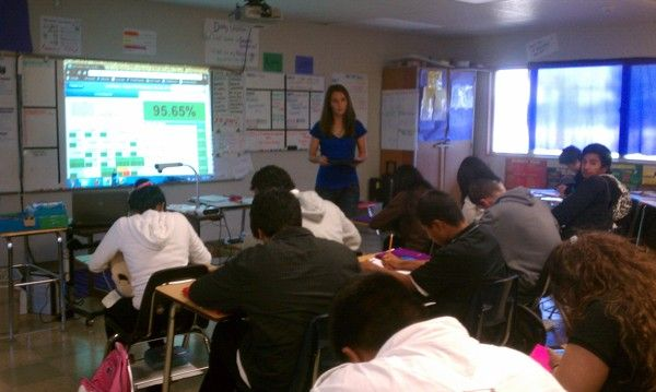 ExitTicket in action at Leadership Public Schools Hayward, 9th Grade Algebra 1.