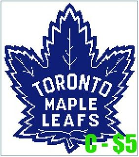 EASY PATTERNS: Toronto Maple Leafs cross-stitch pattern
