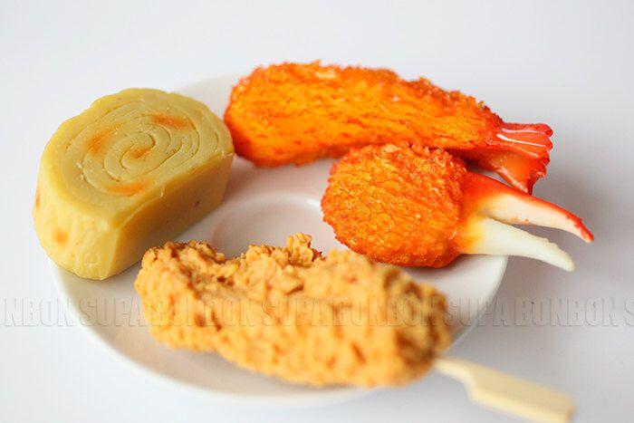1 pcs / Decoden / PVC / Charms / Pendant / Fried Shrimp  / Tempura / Crab Pincers / Food Miniature / 5-10cm / CN548 by Supabonbonniere2 on Etsy https://www.etsy.com/ca/listing/188421812/1-pcs-decoden-pvc-charms-pendant-fried