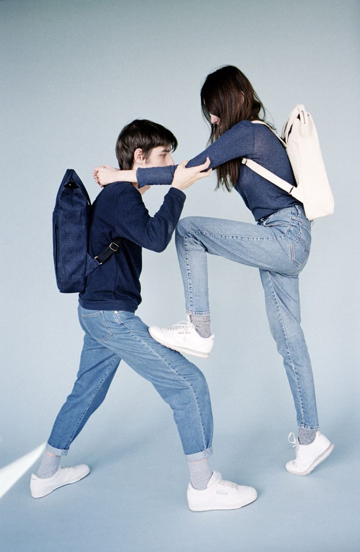 Handle Backpack 01 Denim