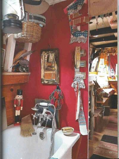 Narrowboat interior #Narrowboat #Holiday #Boats raspberry walls