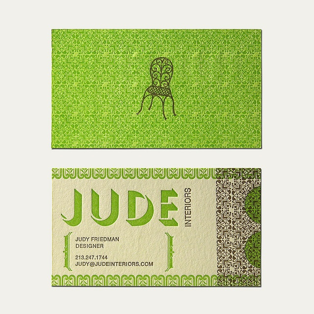 Pros I Know Its For Interior Design Cons Think The Chair Logo Is Letterpress Business CardsBusiness