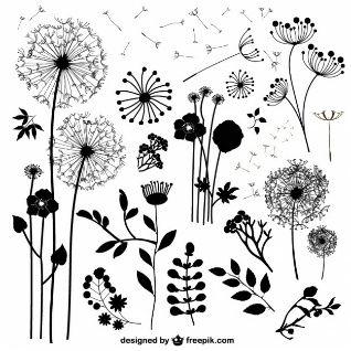 Fleurs sauvages vecteurs