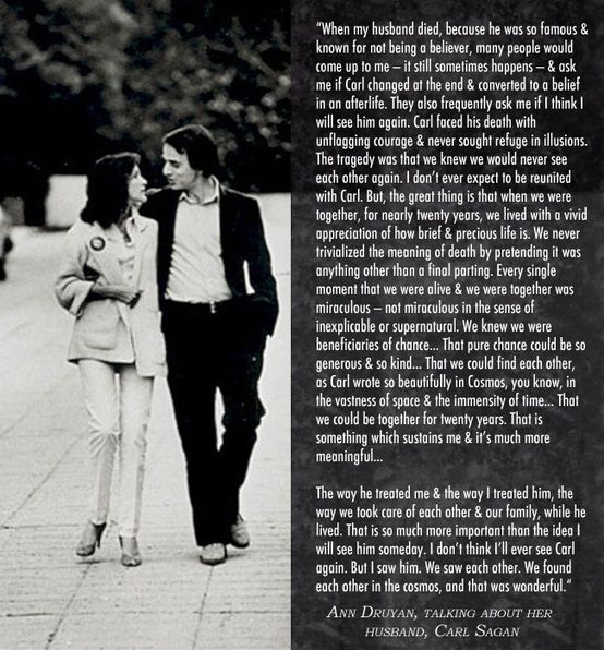 Ann Druyan about her husband, Carl Sagan