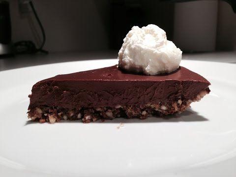 Vegan Chocolate Tart (Almost Raw) no sugar, no eggs, no flour. - YouTube