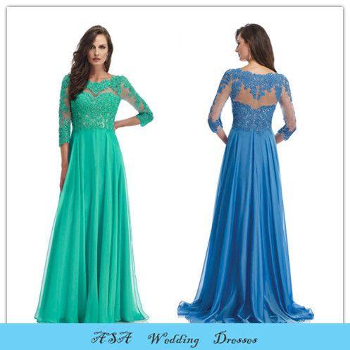 Элегантный высокий воротник элегантный шифон женщина вечерние платья мать ну вечеринку платье с длинным рукавом мать невесты кружевные платья MM856