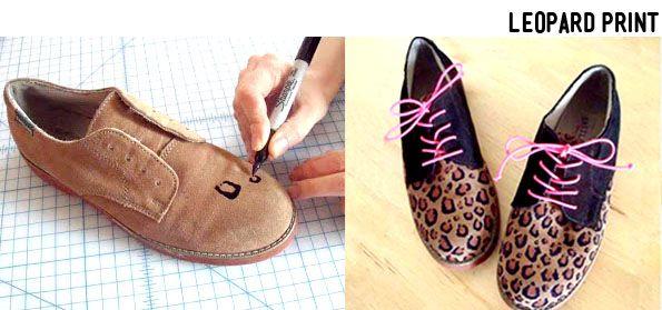 #DIY #shoes #Leopardprint