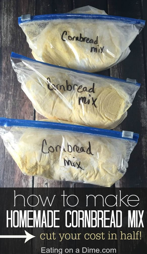 How to Make Homemade Cornbread Mix - Eating on a Dime