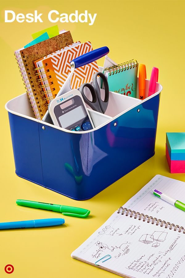 Keep your college dorm desk organized and tidy with a Desk Caddy. It holds all stationery (including pens, pencils and highlighters), a pair of scissors, Post-its and a journal for notes, too. And if your study sesh happens to be down the hall, no problem! This Desk Caddy is totally portable and makes for easy studying anywhere.