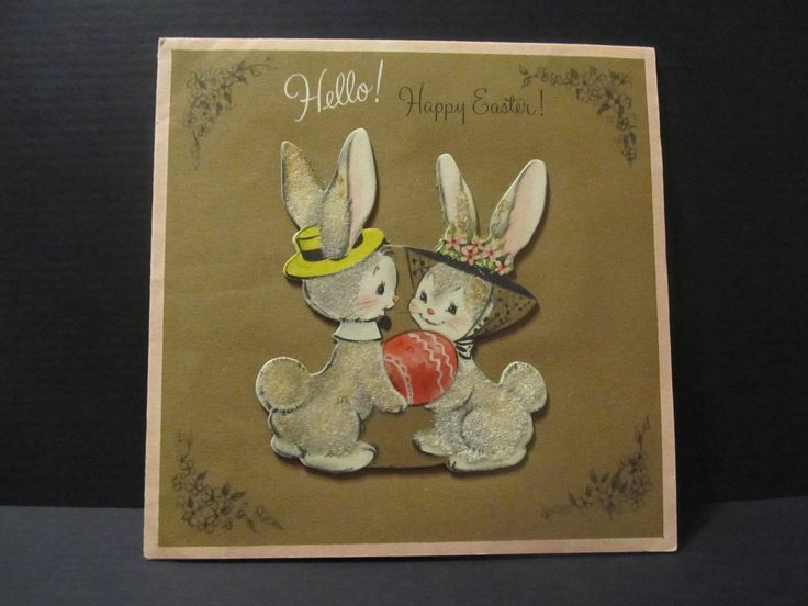 Feb3: #http://etsy.me/2E26BXqExcited to share the latest addition to my #etsy shop: Hallmark, Hello Happy Easter, Fuzzy Bunny Rabbits, Holiday Greeting Cards, Recycled Cards, Second Use, with Envelope, FREE Shipping http://etsy.me/2E26BXq #papergoods #freeshipping