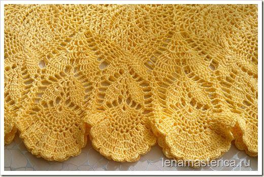 """Вязаное платье """"Солнышко"""", желтое платье крючком. Схемы"""