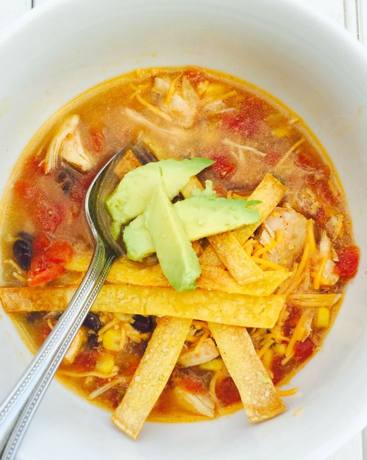This Instant Pot Chicken Tortilla Soup is easy, healthy, and delicious!