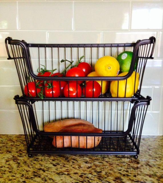 Currently loving :: countertop fruit + veg storage solution