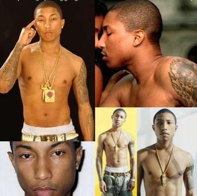 Pharrell's Revolutionary Tattoo Removal #tattoos trendhunter.com