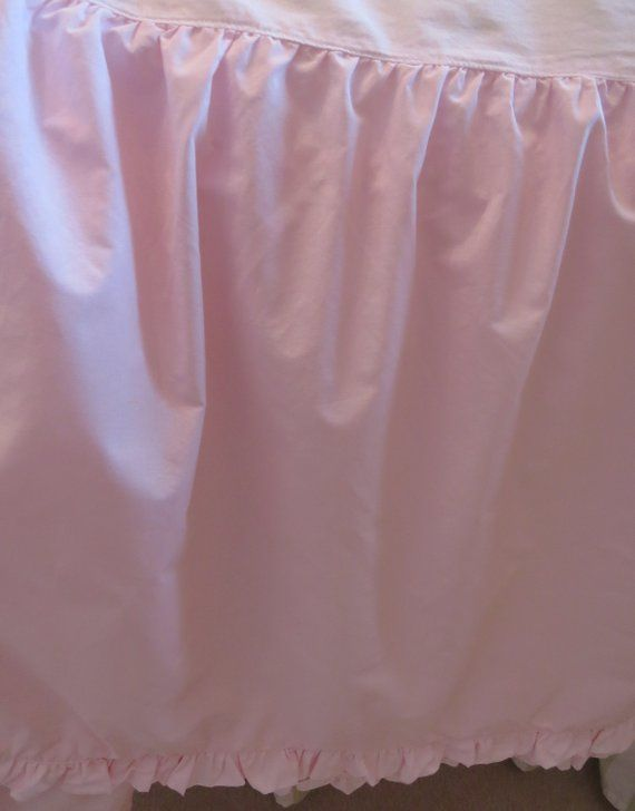 Pink Twin Bed Skirt By Pine Cone Hill Pale Dust Ruffle Hem Single Shabby Chic Country Cottage Dorm Bedding