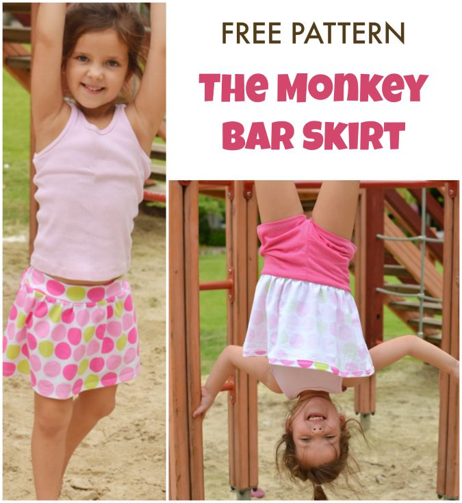 FREE pattern for the Monkey Bar Skirt - includes built-in shorts!
