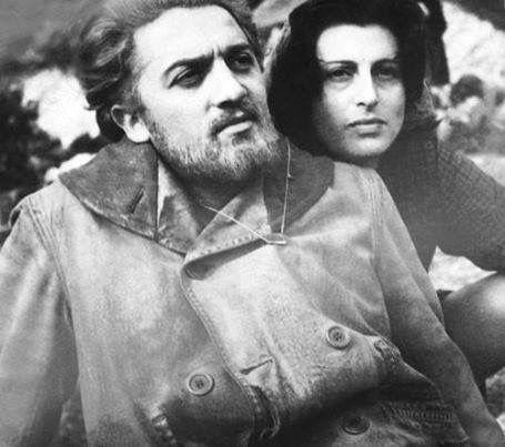 """Anna Magnani & Federico Fellini  set of """"Amore""""  1948"""