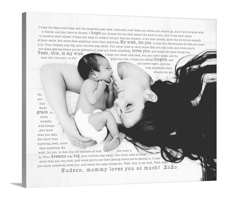 Best Christmas Gifts For New Moms Part - 47: Great Gift For New Mom And Dad. New Baby Nursery Photo Art. Put Your  Favorite Photo On Canvas With Your Special Words. Photos On Children Best  Friend, Pets, ...