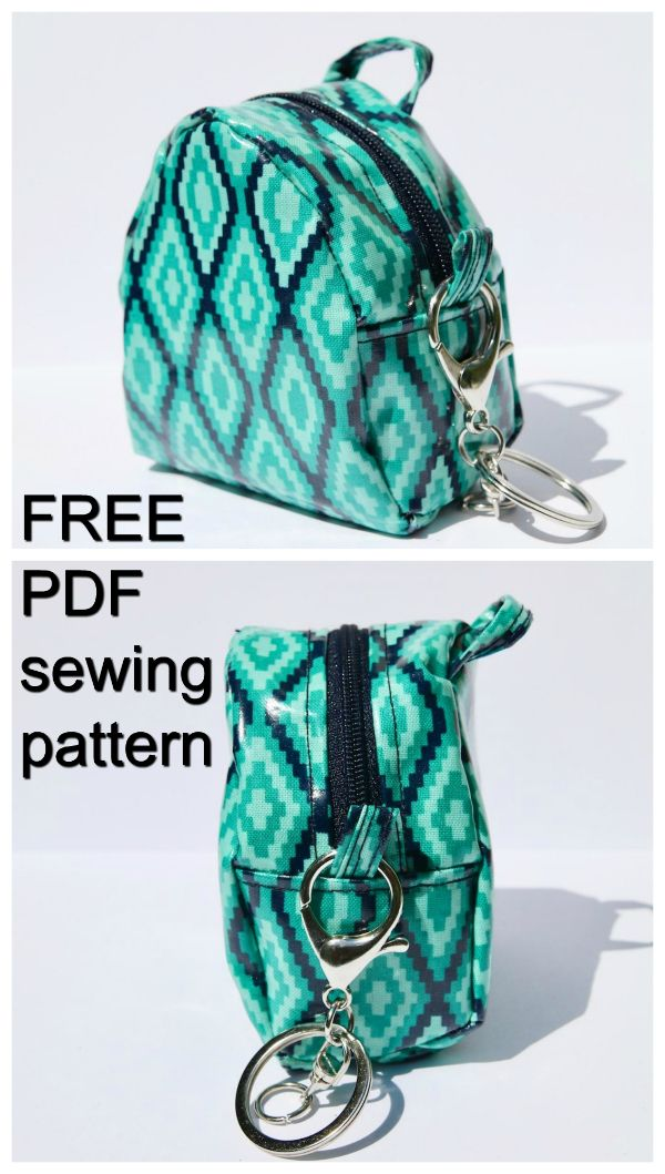Free Pdf Bag Sewing Pattern Mini Coin Purse The Dimensions Are 3 5 X 0 2 So It Is Not A Wearable Backpack Just Very Small