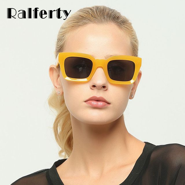 9cf94a10c8d6 Ralferty Retro Square Sunglasses Women Men Colorful Plastic Sunglass Female  Vintage Sun Glasses UV400 Shades Oculos Gafas X1758 Review