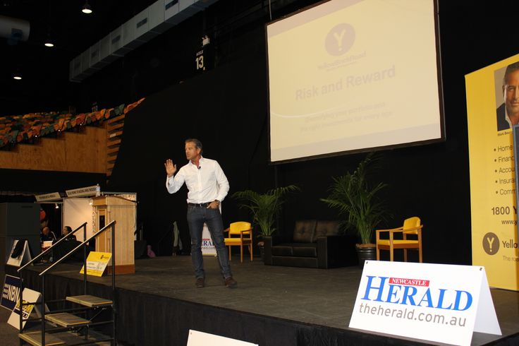 Mark Bouris presenting at the 2013 Newcastle Home Show.