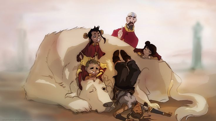 Korra and The Airbenders by chakhabit on DeviantArt
