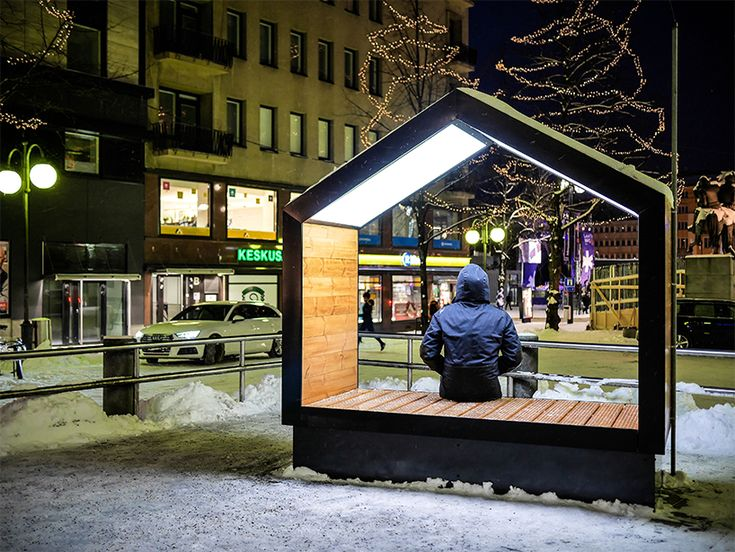mokša street furniture installed in lahti, finland