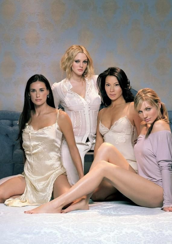 Charlie S Angels Cameron Diaz Lucy Liu Demi Moore Drew Barrymore Stunning Ladies On An A4 Gloss Demi Moore Lucy Liu Charlie S Angels