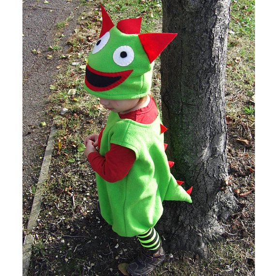 child's monster costume green red and MATCHING TOY for by GuuGuuGa, $120.00