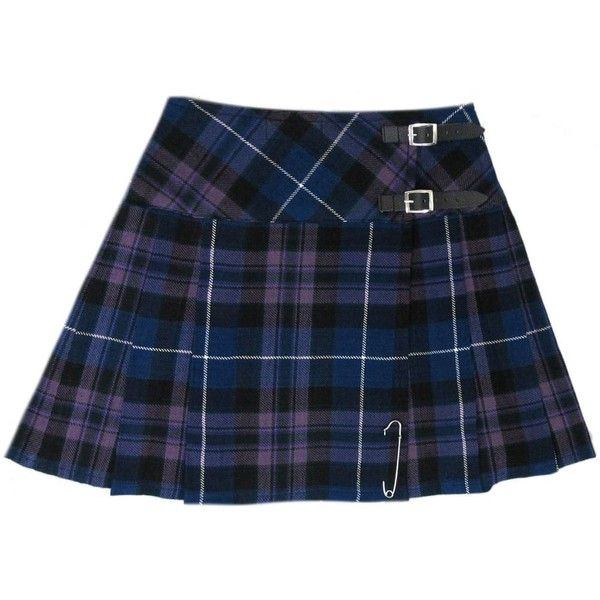 """Honour Of Scotland Plaid 16.5"""" Scottish Mini Kilt Skirt US Size 4 26 ($29) ❤ liked on Polyvore"""