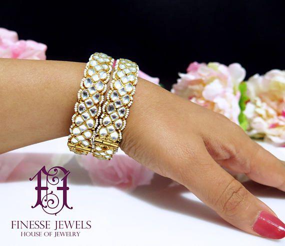 Gold White Kundan Bangles, Indian Bangles, Kundan Bangles, Statement Bangles, Indian Jewelry, ,Kundan Bangles,Kundan Jewelry,Fashion Bangles,Statement Jewelry, Fine Mughal Jewelry, Designer Gold Kundan Kangans, Indian Jewelry Bollywood Jewellery, Kundan Bangles  Beautiful Royal Gold