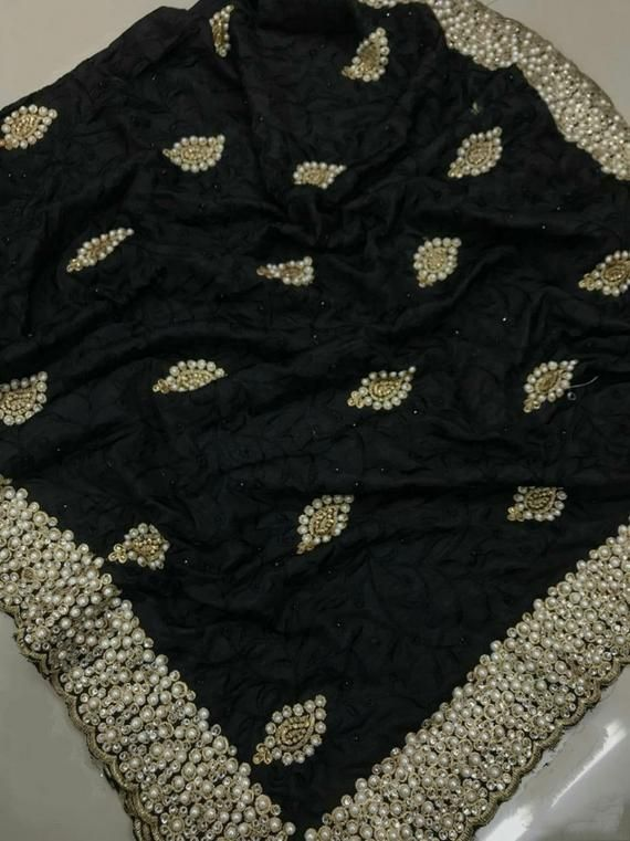 Heavy Net Beautiful Designer Fancy Saree With Stone Pearl Beads Work For Wedding And Party Wear Saree Collection