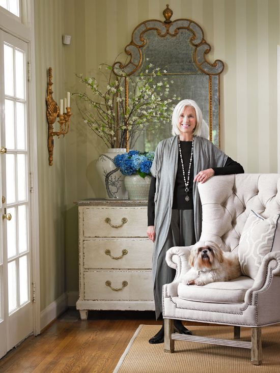 Designer Lillian August in her gorgeous Carolina home - Traditional Home®  Photo: Emily Followill Design: Lillian August