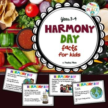 Harmony Day - Australia14 pagesThis PowerPoint will assist in building an understanding of Harmony Dayand why we hold it as an important part of our current history and acknowledge it every year. Use this as a PowerPoint and share with your grade the facts about Harmony Day in Australia.