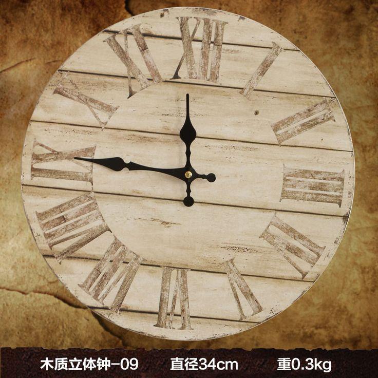 Большие декоративные настенные часы современный дизайн Гостиная Моды часы старинные стерео настенные часы настенные украшения стен дома купить на AliExpress