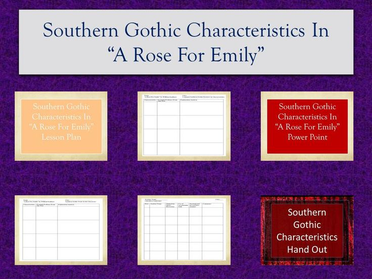 a rose for emily southern gothic characteristics teacher checklist. Black Bedroom Furniture Sets. Home Design Ideas