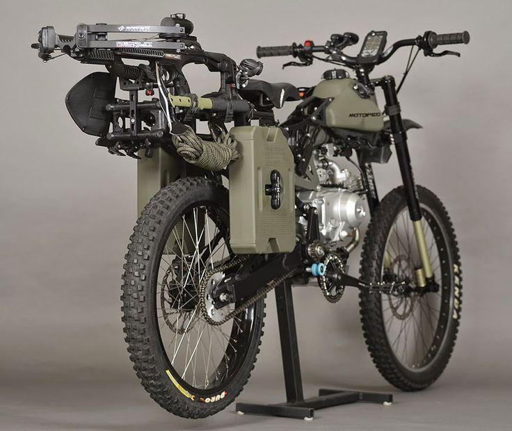 """La """"Survival Bike"""" est une moto qui vous permettra de survivre à une apocalypse zombie grâce à son impressionnant arsenal d'armes et d'outils embarqués !"""